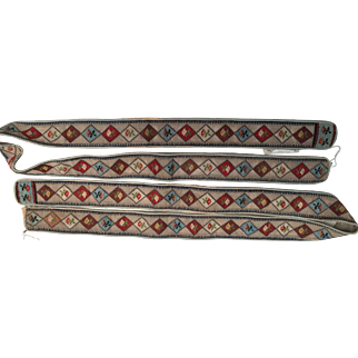 A Pair of Petit Point Strips