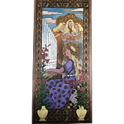 Decorated Wood Panel