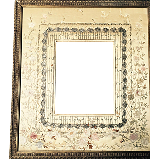 Picture Frame with Embroidery and ribbon work