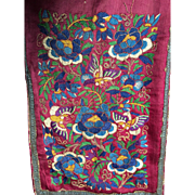 Large Chinese Embroidery - bed curtain or costume?