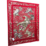 Chinese Foo Dog Tapestry