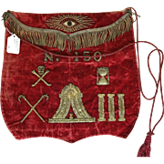 Set of Masonic Aprons and case