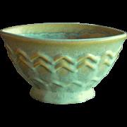 Fulper Pottery Vase, Art Deco Design, Pastel Turquoise and Green, Circa 1930s