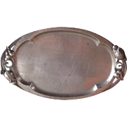 Vintage Nekrassoff Pewter Tray, Arts & Crafts Style, Circa 1920s or 1930s