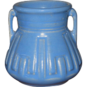 Roseville Pottery Vase, Arts and Crafts, Mission Style, Periwinkle Blue, Circa 1920s