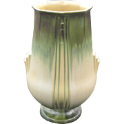 Huge Roseville Pottery Russco Vase, Art Deco Pottery, Pale Yellow and Green Drip Glaze, Circa 1930s