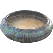 Huge Fulper Pottery Bowl, Console or Bulb Bowl, Drip Glaze, Arts and Crafts Style, Vintage 1920s