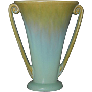 Tall Fulper Pottery Vase, Crystalline Blue and Green Glaze, Circa 1920s