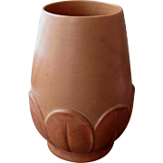Large Weller Pottery Manhattan Vase, Terra Cotta Matte Glaze, Vintage American Art Pottery, Arts & Crafts, Art Deco, Cottage Chic, 1930s