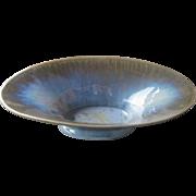 Fulper Pottery Console Bowl or Dish, Crystalline Glaze, Vintage 1920s, Arts & Crafts, Craftsman, Mission Style