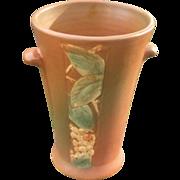 Weller Pottery Vase, Velva Design, Vintage American Art Pottery, Circa 1920s or 1930s, Cottage Chic