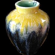 Boch Freres Pottery Vase, Circa 1920, Drip Glaze, La Louviere, Belgium