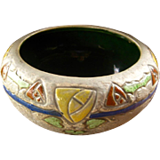 Roseville Pottery Mostique Bowl, Arts & Crafts, Mission Pottery, Circa 1915, Antique American Art Pottery