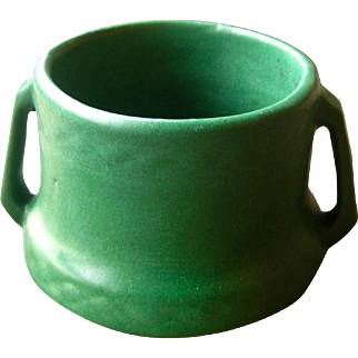 Weller Pottery Matt Green Jardiniere, Arts and Crafts, Craftsman Style, Circa 1905, Cottage Chic, Bungalow Style,