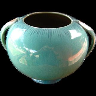Large Roseville Pottery Orian Vase, Jardiniere, Vintage Art Pottery, Art Deco Style, Turquoise, Circa 1930s