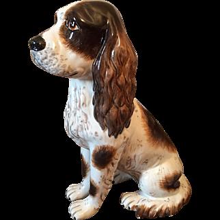 Mid 20th Century Italy  Majolica dog