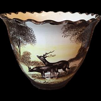 Hubert Bequet Porcelain Cachepot (Belgium)