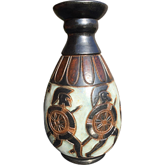 Rare art deco vase from Dubois pottery of Belgium