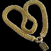 15k yellow gold locket bale book chain necklace antique Victorian c1860