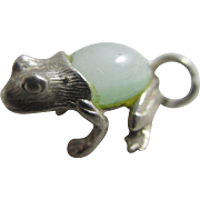 Jelly belly in sterling silver English Nuvo frog charm vintage c1960