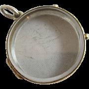 9k / 9ct gold double pendant locket antique Victorian c1860