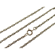 9k / 9ct gold chain link necklace 79.2 cm vintage Art Deco c1920