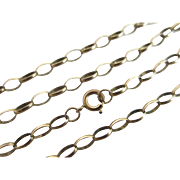 9k / 9ct gold chain link necklace 63.0cm/24.8 in vintage Art Deco c1920
