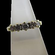 0.5 carat diamond 18k / 18ct gold ring size UK O+ /US 7.5 vintage c1980