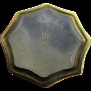 Intaglio chalcedony 'adieu au revoir' 15k 15ct gold fob seal pendant antique Victorian c1840