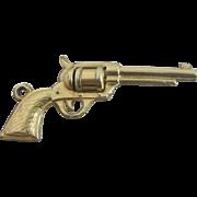 1/20 12k 12ct gold filled moving revolver pendant charm vintage Art Deco c1920