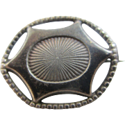 Charles Horner sterling silver brooch pin antique Edwardian c1910