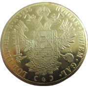 20k 20ct gold hungarian ducat coin from 1915 Antique