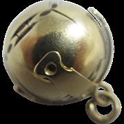 9k 9ct gold on sterling silver masonic ball cross pendant fob vintage Art Deco c1920