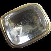 Intaglio foiled back rock crystal 'Eliza' 15k 15ct gold fob seal pendant antique Victorian c1840