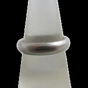 950 palladium plain wedding band ring size UK M / US 6.25 vintage c1980