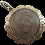 9k 9ct gold mourning pendant locket antique Victorian c1860