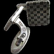 Danish sterling silver Georg Jensen gentleman's cufflinks vintage 1989 marked