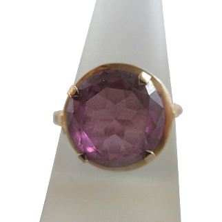 Alexandrite 18k 18ct gold ring size UK O+/ US 7.5 vintage Art Deco c1920