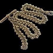 9k 9ct rolled gold albert watch chain vintage Art Deco c1920