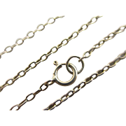 9k 9ct gold chain link necklace 51.6cm or 20.3 inches vintage Art Deco c1920