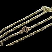 """9k 9ct yellow gold chain link necklace 46.1cm / 18.1"""" vintage Art Deco c1920."""