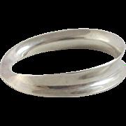 Sterling silver twist bangle bracelet vintage 2003 Scottish hallmarks.