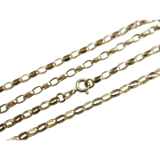 9k 9ct yellow gold chain link necklace Vintage c1980.