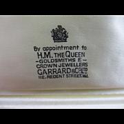 HM The Queen Jewellers Garrard & Co Ltd leather box vintage Art Deco c1920.