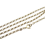 9k 9ct yellow gold chain link necklace vintage 1979 English hallmark.