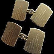 9k 9ct gold gentleman's cufflinks vintage Art Deco 1933 English hallmark.