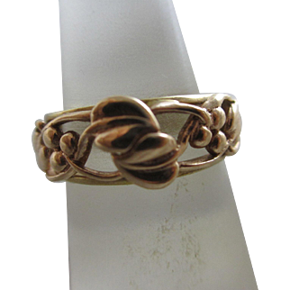Welsh Clogau 9k 9ct gold ring vintage 1997 English hallmark.