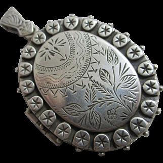 Sterling silver double pendant locket aesthetic vintage c1980