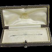 Asprey 166 Bond Street London leather brooch pin jewellery box vintage Art Deco c1920.