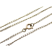 9k yellow gold chain link necklace antique Victorian c1890.